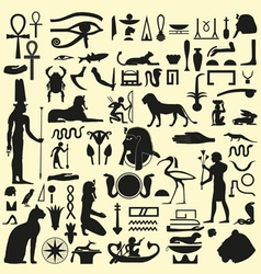 Egyptian Symbols and Signs SET 1 vector image