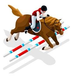Equestrian eventing 2016 sports 3d vector
