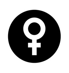female symbol isolated icon vector image