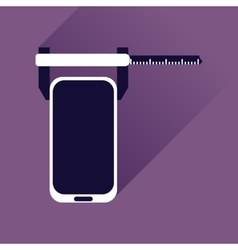 Flat web icon with long shadow mobile settings vector