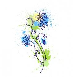 Floral design grunge vector