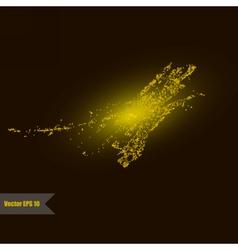 Golden glitter universe vector