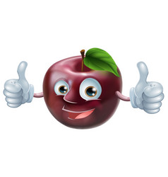 happy apple man vector image
