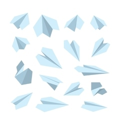 icon set of Origami plane collection vector image
