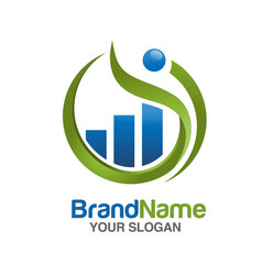 marketing and finance logo vector image vector image