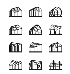 Metal structures in perspective vector