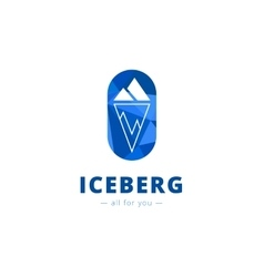minimalistic iceberg logo vector image vector image