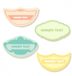 pastel labels vector image vector image