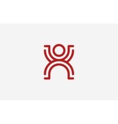 Person symbol human avatar line men logo vector