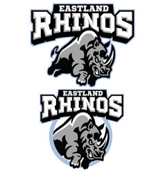 Rhino mascot charging vector