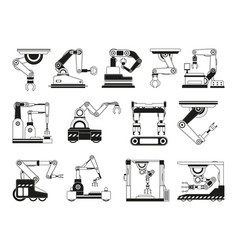 robotic hands for manufacturing industry vector image vector image