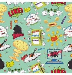 Seamless pattern background with comic book speech vector