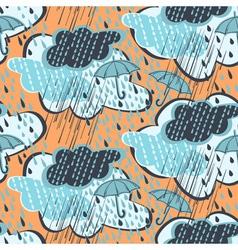 Seamless rain pattern vector