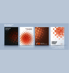 Set of business template brochure design vector