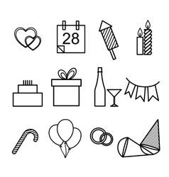 set of icons for the holidays vector image vector image