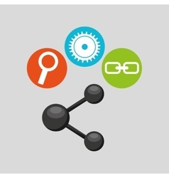 sharing symbol technology social media concept vector image