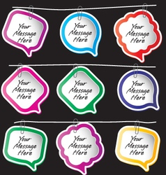 Message notes vector