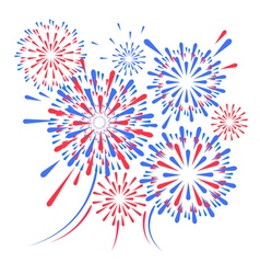 holiday festival firework vector image