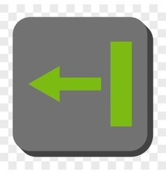 Pull left rounded square button vector
