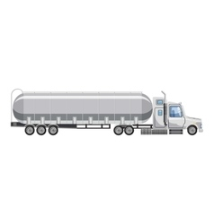 Truck carries petrol icon cartoon style vector