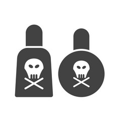 Poisonous chemicals vector