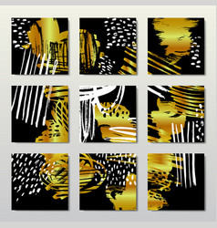 gold background postcards vector image