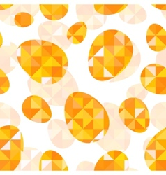Orange diamond eggs seamless pattern vector image