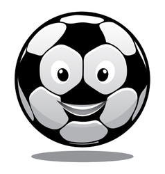 Happy cartoon smiling soccer ball vector