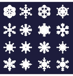 Various types of bold white snowflakes eps10 vector