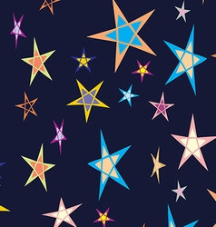 Star background pattern vector