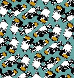 binoculars background pattern vector image