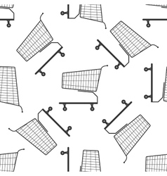 Shopping cart icon pattern vector image