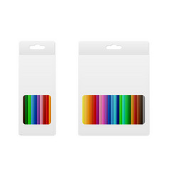 Colored pencils in the box vector