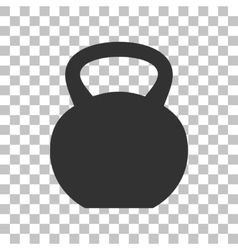 Fitness dumbbell sign dark gray icon on vector