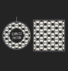 abstract concept monochrome geometric vector image vector image