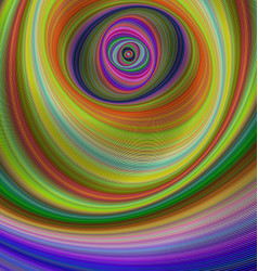 Abstract multicolored hypnotic fractal background vector