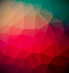 Abstract retro red triangle background vector