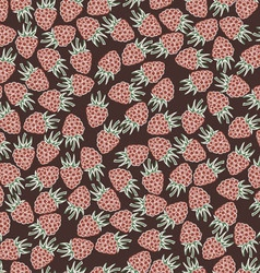 Beautiful seamless pattern with raspberries vector