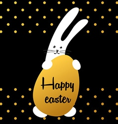 bunny happy easter vector image vector image
