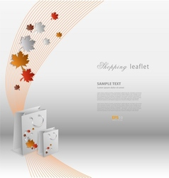 Creative shopping leaflet with stylized shopping vector