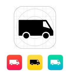 Delivery minibus icon vector