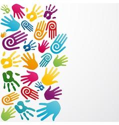 Diversity colors human hand vector