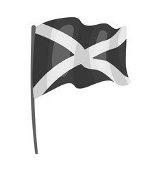 Flag of scotland icon in monochrome style isolated vector