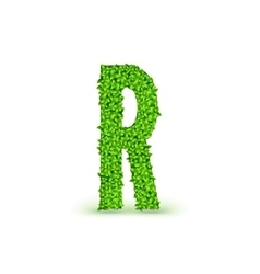 Green Leaves font R vector image vector image