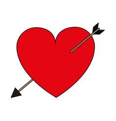 Heart with arrow design vector
