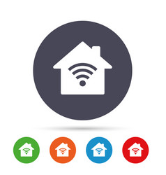 Home wifi sign wi-fi symbol wireless network vector
