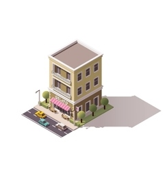 Isometric gelateria building vector