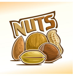 Logo for nuts vector