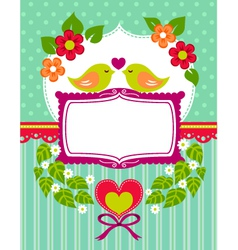 love birds card vector image vector image