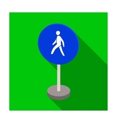 Mandatory road signs icon in flat style isolated vector